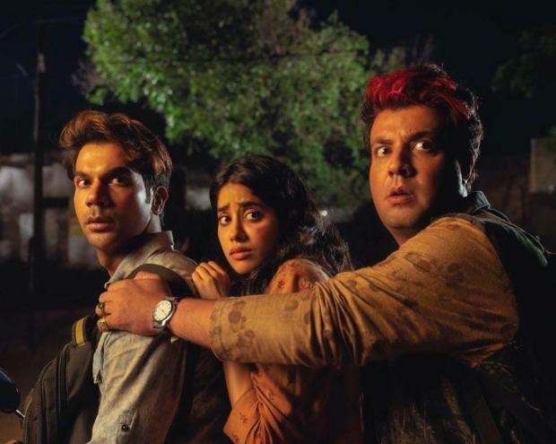 Rajkummar Rao, Varun Sharma and Janhvi Kapoor